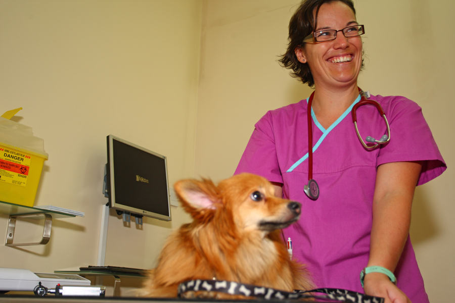 Dr. Betty with Foxy